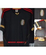 Mexico short sleeve soccer jersey Black Mexico ... - $26.59