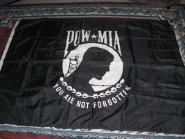 "POW MIA 48"" x 66"" NYLON FLAG-FLY IT-DISPLAY IT-HONOR YOUR DEDICATION & P... - $24.50"