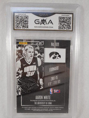 2015 Panini Contenders #109 Aaron White College Ticket Auto Rookie GMA Graded 10