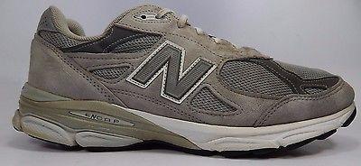 New Balance 990 V 3 Men's Running Shoes Size US 12.5 B NARROW EU 47 Gray M990GL3