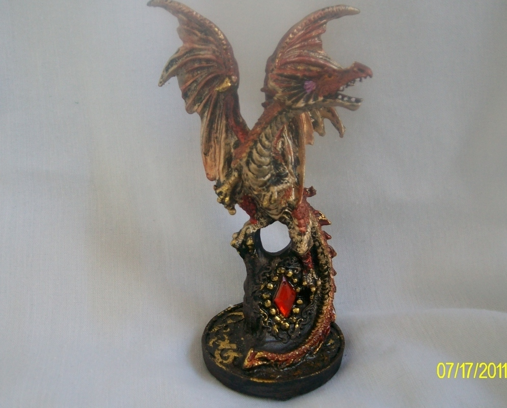 Ruby Dragon Figurine For The Gothic In You