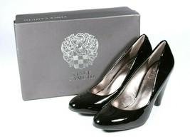 New Vince Camuto Saran Black Patent Leather Pumps Heel Size 7M / Euro 38 / UK 5 - $43.99