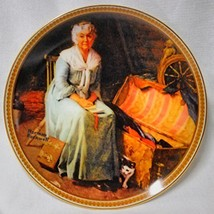 """Norman Rockwell """"Reminiscing in the Quite"""" Plate - $14.85"""