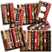 VERY OLD BOOKS BOOKSHELF LIGHT SWITCH OUTLET PLATES HOME LIBRARY OFFICE ... - $10.99+