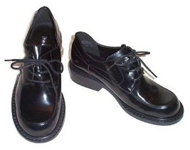 NINE WEST Black Patent Leather Oxfords Lace Up Menswear Shoes - Women's ... - $14.24