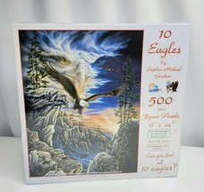 SunsOut 10 Eagles 500 Piece Puzzle 18x24 Stephen Michael Gardner Eco Friendly 9+ - $17.82