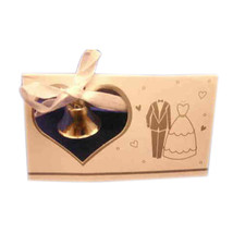 10 Wedding Place cards silver bell and wedding attire - $2.48