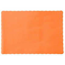 """24 Paper Placemats 10"""" X 14"""" Dinner Size 26 Colors - Tangerine - $2.92"""