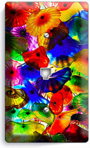 Colorful Murano Glass Phone Jack Telephone Wall Plate Cover Living Home Decor - $9.89