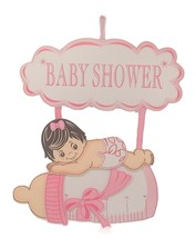 "Baby Shower Hanging Foam Girl with bottle and cloud Decoration 26"" tall ... - $19.75"