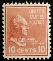 1938 10c John Tyler Scott 815 Mint F/VF NH - $1.47