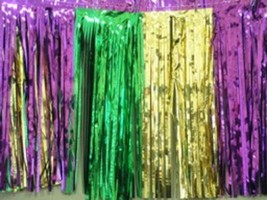 Metallic purple-green-gold Fringed Garland Valance Party decor 10 ft lon... - $8.90
