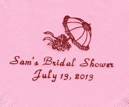 SHOWER UMBRELLA LOGO 50 Personalized printed LUNCHEON DINNER napkins - $11.87+