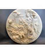 SANTANGELA LA NATIVITA LE PORTE DEL GHIBERTI Ivory Alabaster Plate Plaqu... - $35.00