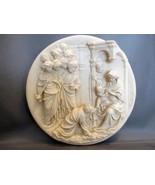 SANTANGELA COLLECTOR'S SCULPTURE PLATE ADORATION MAGI Jesus Christ Itali... - $35.00