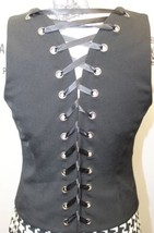 INC Sexy International Concept Ladies Black 6 Bottons Adjustible Corset Vest 4 image 3