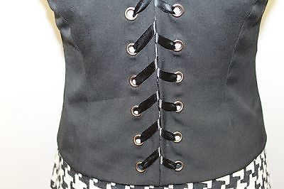 INC Sexy International Concept Ladies Black 6 Bottons Adjustible Corset Vest 4 image 7