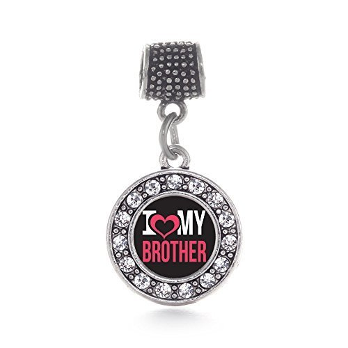 Inspired Silver I Love My Brother Circle Memory Charm Fits Pandora Bracelets ...