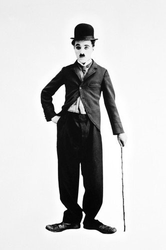 Charlie chaplin with cane