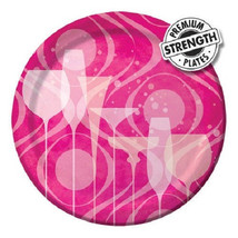 "Fabulous Pink Cocktail Drink Birthday Party 8 Dessert Cake 7"" Plates - £3.60 GBP"