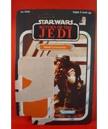 Vintage Star Wars Rebel Commando 65 Back Cardback Only - $4.94