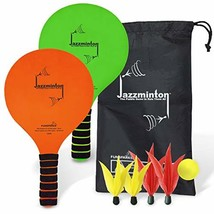 Funsparks Jazzminton Select – Paddle Ball Game Indoor & Outdoor Game – 2... - $15.76