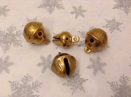Polar Gold Brass Lot of 4 Santa Reindeer bells GREAT for Xmas Morning surprise - $34.64