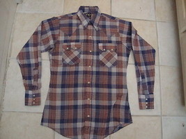 Vintage The Gap Plaid Western Rockabilly Pearl Snap Men's shirt Size S - $24.69