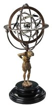 18th Century Atlas Armillary Sphere Globe Antique Reproduction - $567.00