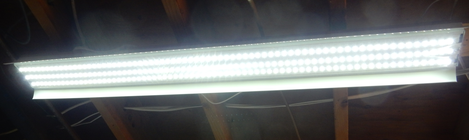 Kit: 60W Power Supply + 2x 4' LED Strips, Bright White, Hi-lumen