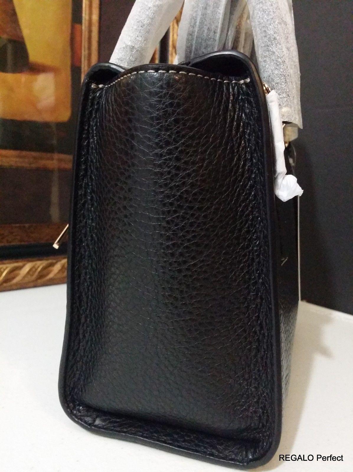 NWT Michael Kors Selby Medium Top Zip Messenger Leather Black MSRP $298