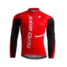 An item in the Sporting Goods category: ZEROBIKE® Men's Soft Long Sleeve Breathable Bicycle Cycling Jersey Polyes...