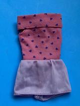 Mattel 1989 Fashion Finds #5301 Barbie Doll Mini Dress Pink Purple Heart... - $9.89