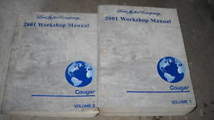 Primary image for 2001 FORD MERCURY COUGAR Service Shop Repair Workshop Manual Set OEM