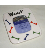 Ceramic Dog Bone Pattern Magnetic WOOF Photo Pi... - £4.52 GBP