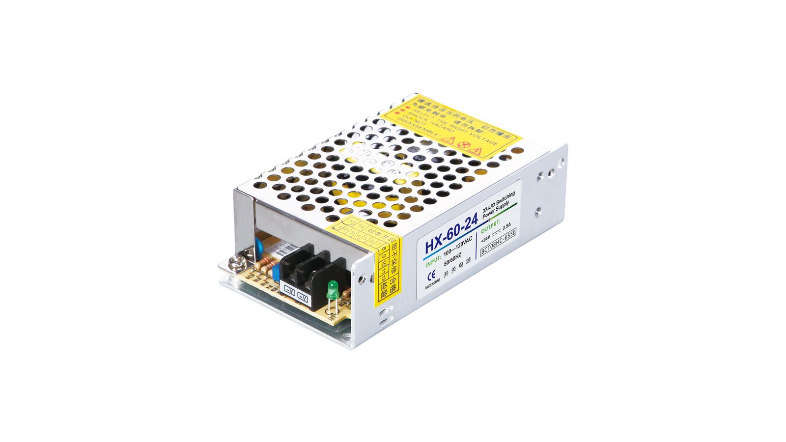Kit: 60W Power Supply + 8' LED Strip, Bright White, Hi-Lumen