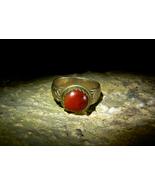 DEMON ANGEL PRIMAL GODDESS NAAMAH Ancient Bronze Carnelian Ring izida haunted - $666.00