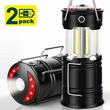 EZORKAS 2 Pack Camping Lanterns, Rechargeable Led Hurricane Lights... - $33.28