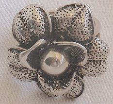 Silver  big flower ring - $42.00