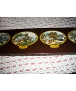 Vintage Currier & Ives Warming Tray Four Seasons - $30.00