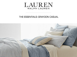 Ralph Lauren 2pc Graydon Bold Shirt Stripe Stan Pillowcases Chambray Blue Nip - $49.84