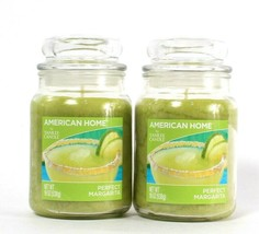 2 American Home By Yankee Candle 19oz Perfect Margarita Single Wick Glas... - $45.99
