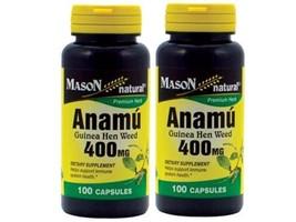2 X 100 = 200 capsules ANAMU 400 mg  CIRCULATOR... - $15.79