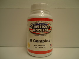 VITAMIN B COMPLEX 100 TABS  skin eyes hair BRAIN ENERGY W VIT C - $7.99