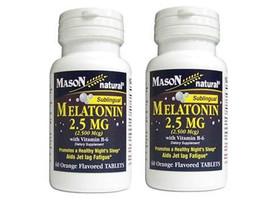2 x 60 = 120 TABLETS SUBLINGUAL orange flavor MELATONIN 2.5 mg healthy s... - $11.34