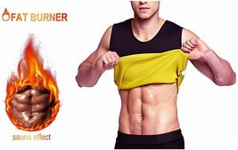 Men's Body Shaper Hot Sweat Workout Tank Top Slimming Neoprene Weight - $9.99