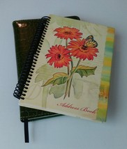 Green Faux Alligator Skin Journal and Flowered Address Book - NEW with l... - $14.03
