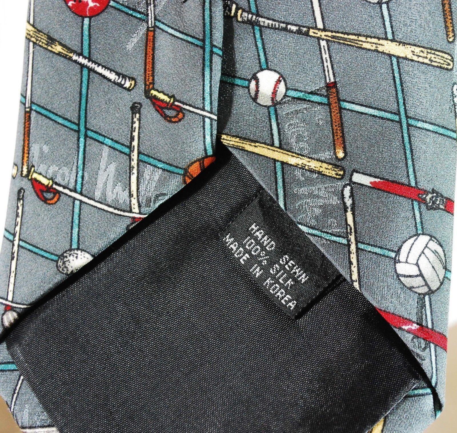 NICOLE MILLER 1996 100% Silk Mens Neck Tie - Sports soccer football golf bowling