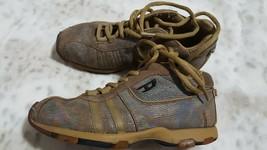 Diesel Womens US 7 Athletic Sneaker Shoes Mermaid Shine Leather Tan Beige - $27.71