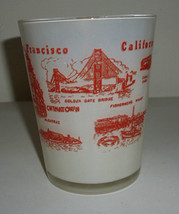 San Francisco California Jigger Frosted Glass - $39.99